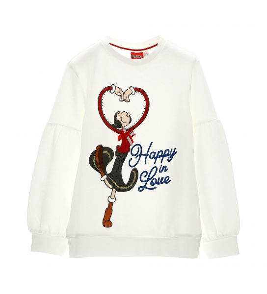 OLIVIA SWEATSHIRT WITH BALLOON SLEEVES