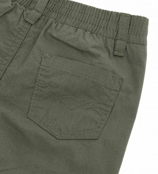 COTTON TROUSERS WITH FAKE POCKETS