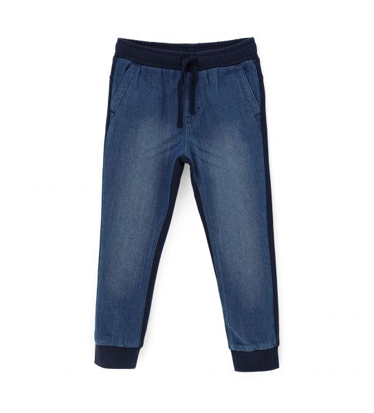 COTTON DENIM JOGGER IN FRONT