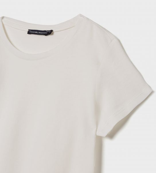 SHORT SLEEVE T-SHIRT OPENING ON THE BACK