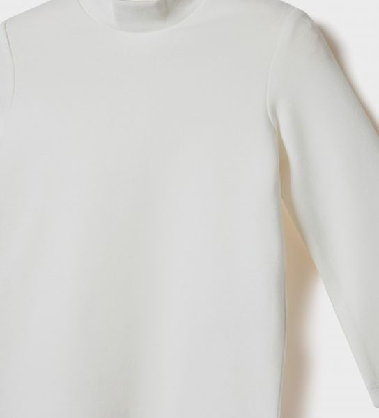 LONG SLEEVE T-SHIRT WITH LUPETTO COLLAR