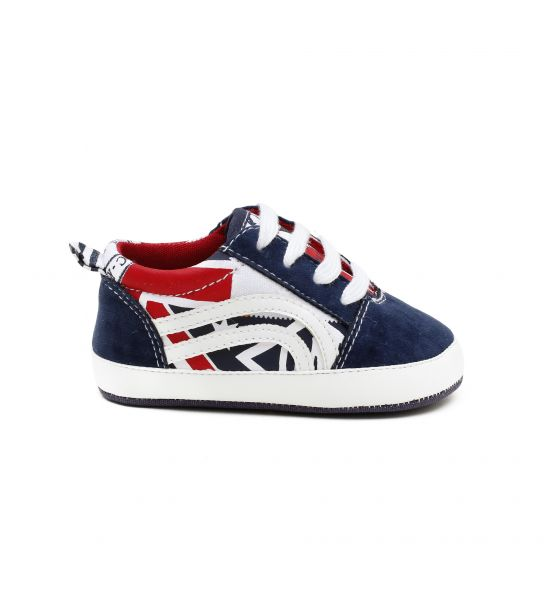SHOE IN PRINTED COTTON AND INSERTS