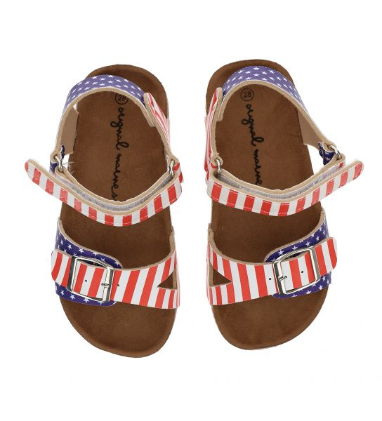 SANDAL IN PRINTED FAUX LEATHER