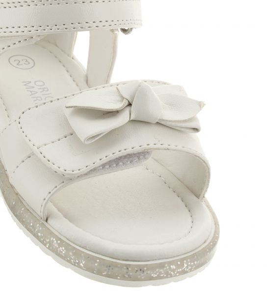 FAUX LEATHER SANDAL AND FRONT BOW