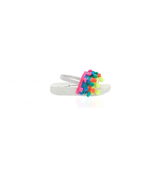 BEACH SLIPPER WITH MULTICOLOR BALLS