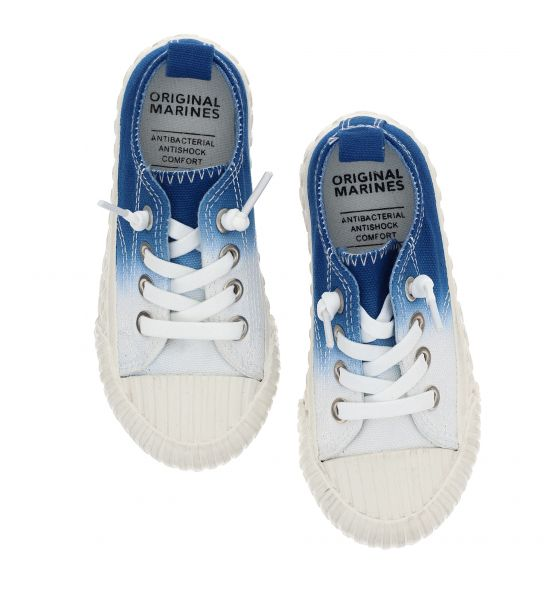 SHOE IN COTTON CANVAS AND ELASTIC LACES