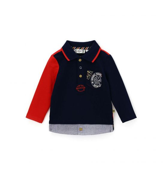 COTTON POLO WITH POCKET