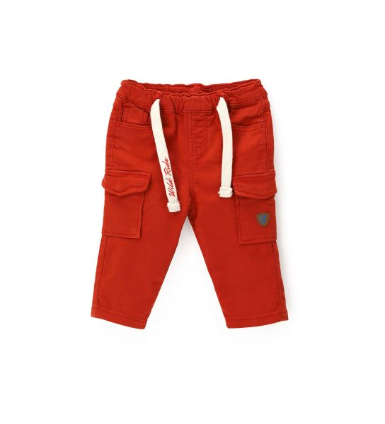 COTTON PANTS WITH CARGO POCKETS