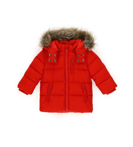 PARKA JACKET WITH REMOVABLE HOOD