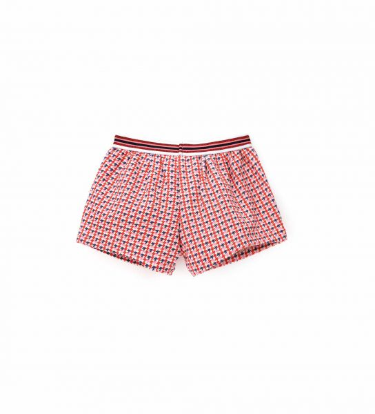 SHORT FABRIC PUNTO ROMA WITH ALL OVER PRINT
