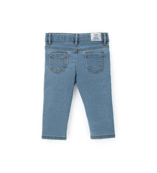 PANTS WITH PATCH POCKETS BEHIND