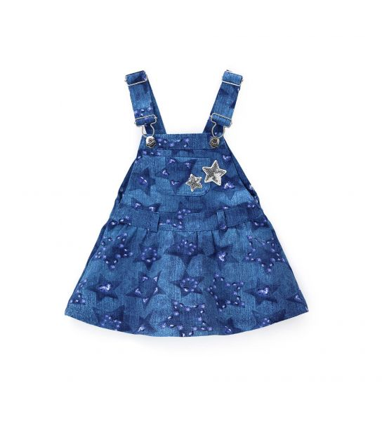 DUNGAREES WITH BRACES AND SEQUINS
