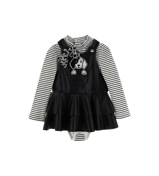 COTTON BODY AND DUNGAREES SET