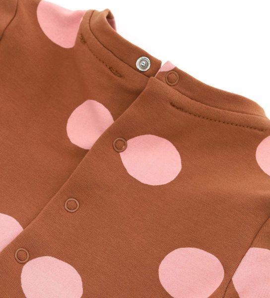 COTTON SWEATSHIRT DRESS WITH RUFFLES