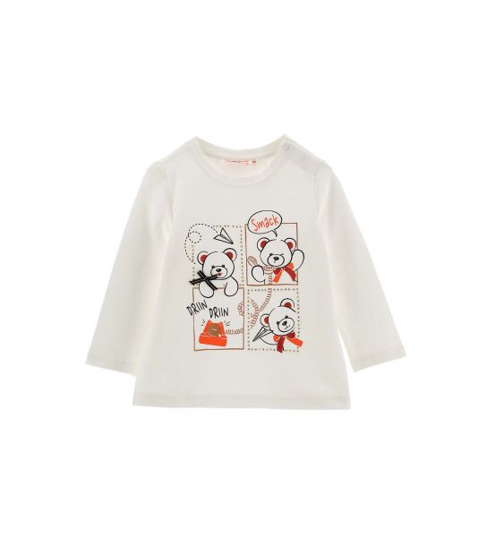 COTTON T-SHIRT WITH PRINTED BOW