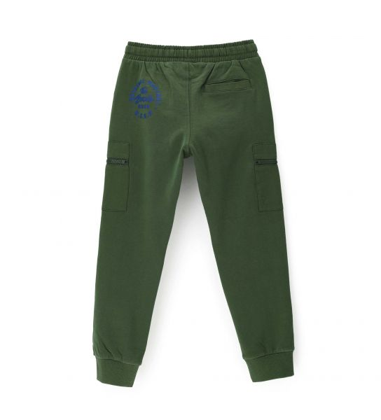 COTTON TROUSERS WITH CARGO POCKETS