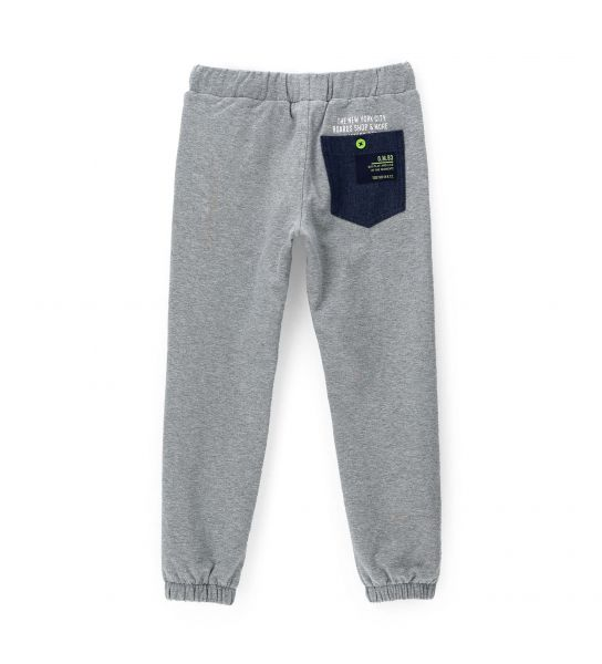 PANTS WITH PATCH POCKET IN DENIM