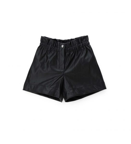 SHORTS IN ELASTICIZED FAUX LEATHER