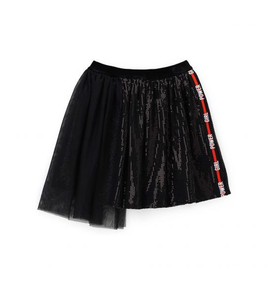 GONNA IN TULLE CON MICRO PAILLETTES