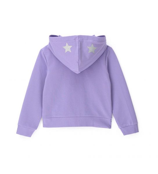 COTTON SWEATSHIRT WITH ALL OVER EMBROIDERY