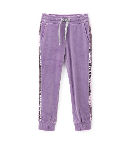 CHENILLE PANTS WITH SEQUINS
