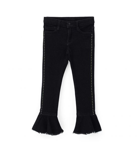 BELL BOTTOM JEANS WITH FRINGES