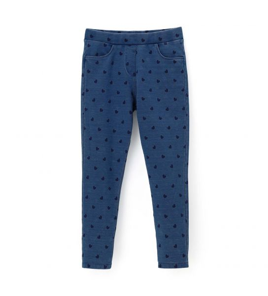 ALL OVER PRINTED ELASTIC JEGGINGS