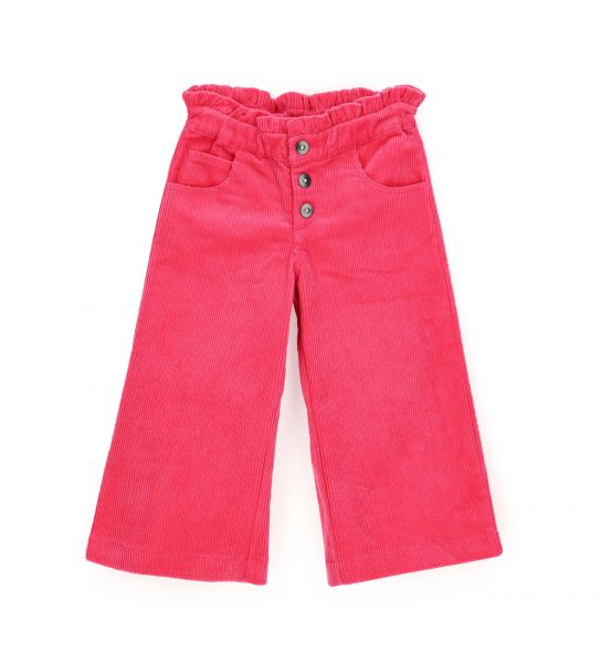 CROPPED PANTS IN COTTON VELVET