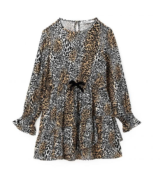DRESS IN ALL OVER PRINTED VISCOSE