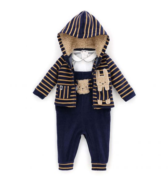 DUNGAREES WITH T-SHIRT AND JACKET