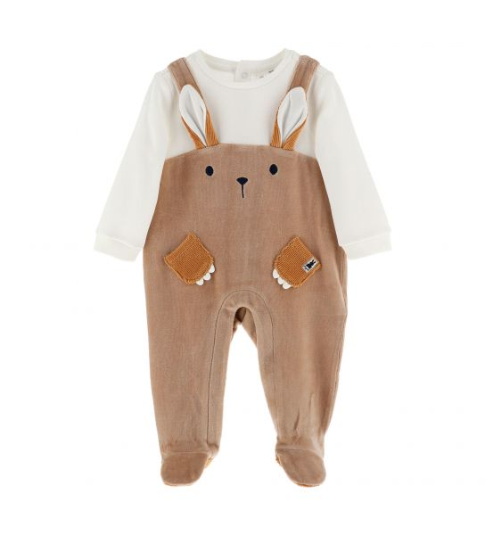 CHENILLE JUMPSUIT WITH FAKE EARS