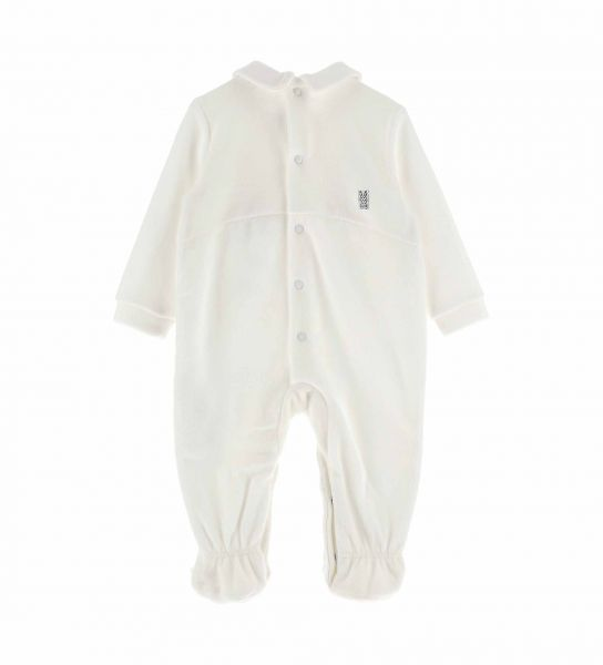 COTTON CHENILLE JUMPSUIT WITH BOW