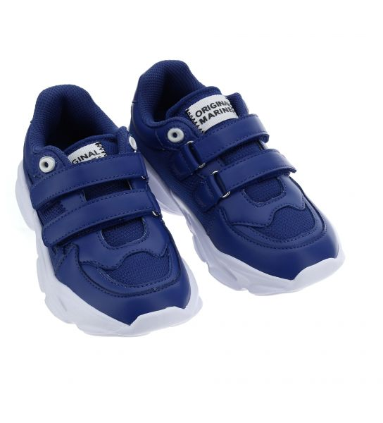FAUX LEATHER SNEAKERS WITH VELCRO