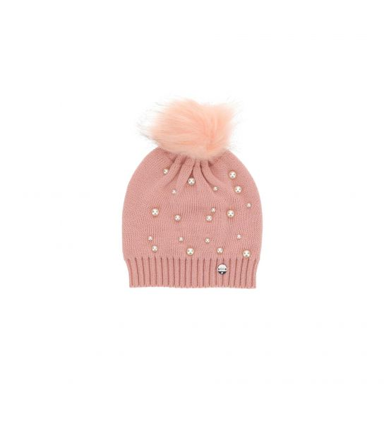 KNIT HAT WITH PEARLS