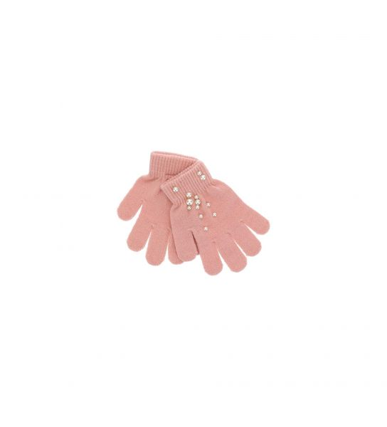 KNITTED GLOVES WITH PEARLS