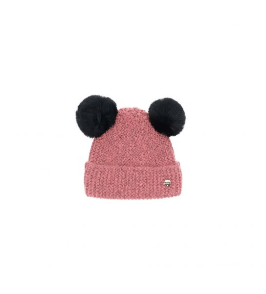 KNIT HAT WITH POMPON