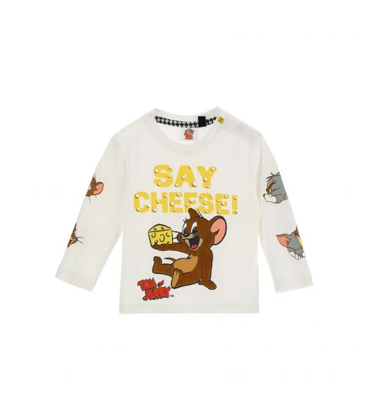 TOM AND JERRY T-SHIRT WITH PRINTS
