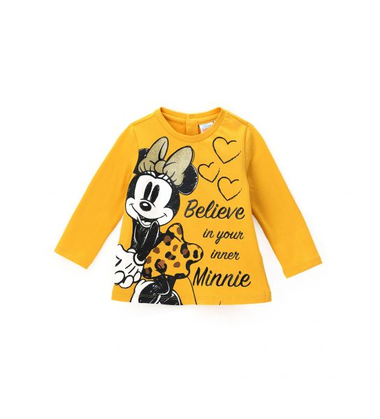 MINNIE T-SHIRT WITH PRINTS AND GLITTER