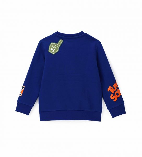 SPACE JAM SWEATSHIRT WITH PATCH AND PRINTS