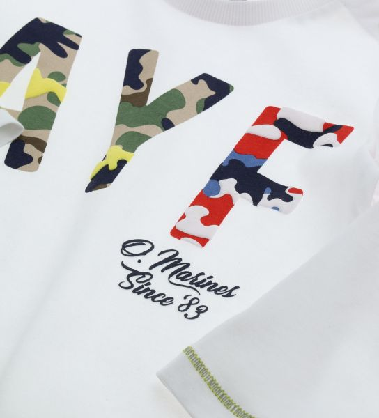 LONG SLEEVE T-SHIRT AND OPENING ON THE SHOULDER