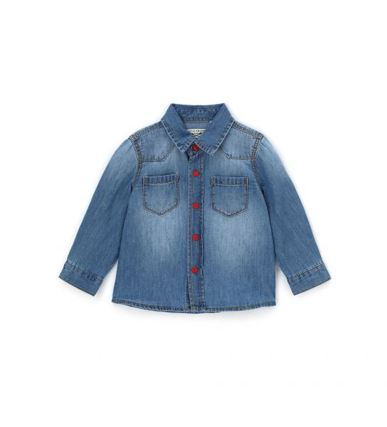 CAMICIA NEONATO IN DENIM