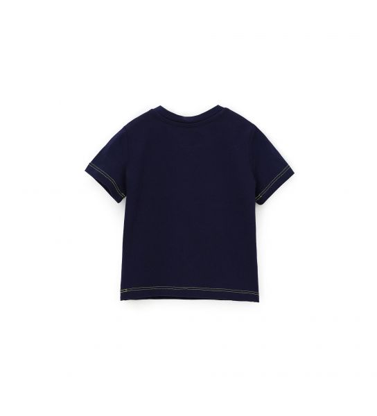 SHORT SLEEVE T-SHIRT WITH CONTRASTING SEAMS
