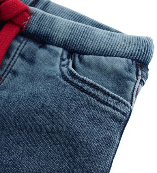 DENIM SWEATPANTS WITH FRONT POCKETS