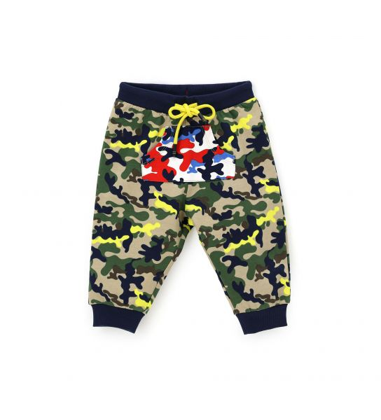 SWEATPANTS WITH ALL OVER PRINT