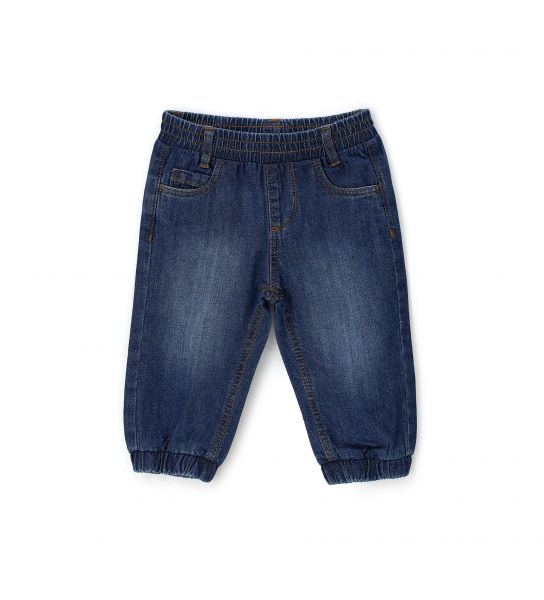 COTTON DENIM JEANS WITHOUT ZIPPER