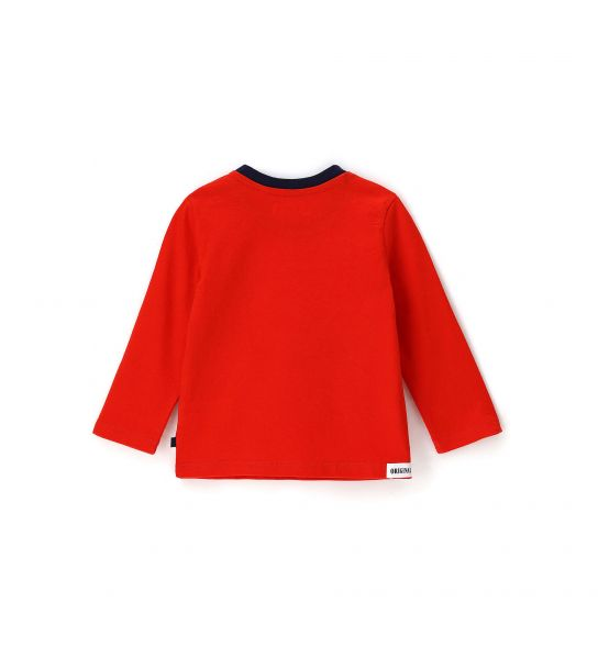 NEWBORN T-SHIRT WITH LONG SLEEVE WITH COLORFUL PRINTS