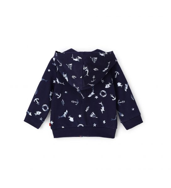 BABY SWEATSHIRT WITH HOOD ORGANIC COTTON