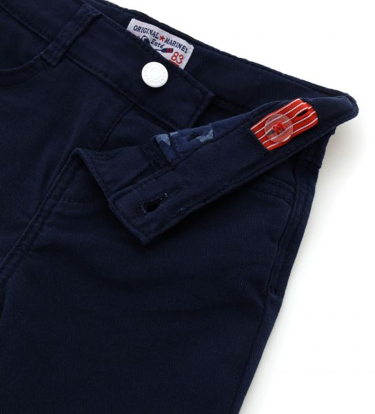 STRETCH GABARDINE JEANS WITHOUT ZIPPER