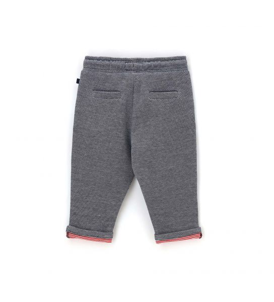 JOGGER PANTS IN COTTON DOUBLE IN OXFORD PIQUET