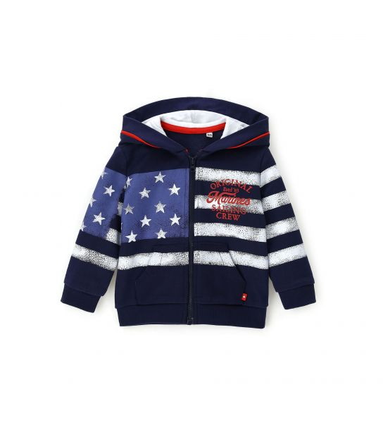 BABY SWEATSHIRT WITH LINED HOOD
